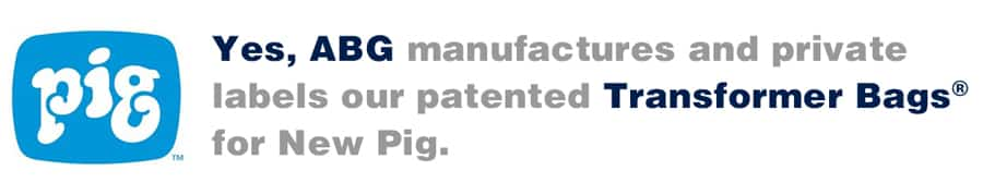 ABG Manufactures and Private Labels Our Patented Transformer Bags® for New Pig